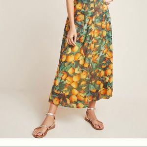 Maeve by Anthro Vintage Inspired Orange Skirt 🍊